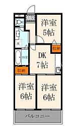 Osaka Metro堺筋線 天神橋筋六丁目駅 徒歩2分の賃貸マンション 6階3DKの間取り
