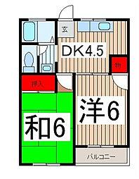 マイネル・ロッジ2[2階]の間取り
