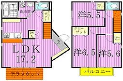 [一戸建] 千葉県我孫子市湖北台9丁目 の賃貸【/】の間取り