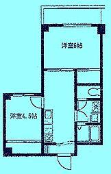シルキーハイツ[4階]の間取り