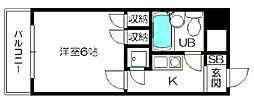 トーカン東淀川キャステール[212号室]の間取り