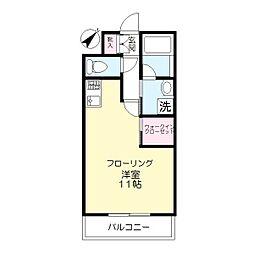 第5丸仙ハイツ[2階]の間取り
