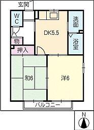 プランドール西口C棟[2階]の間取り