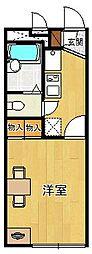 レオパレススプルース鳴尾[1階]の間取り
