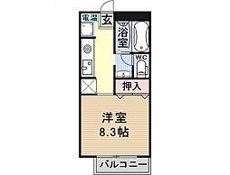 セントポーリア醍醐[102号室号室]の間取り