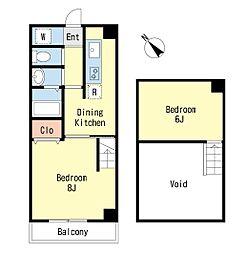 ルーラル八番館[10階]の間取り