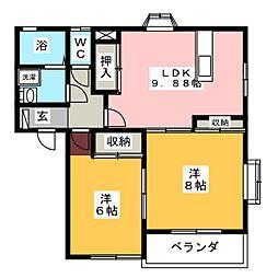 キャッスルA[1階]の間取り