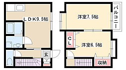 [テラスハウス] 愛知県名古屋市守山区笹ヶ根3丁目 の賃貸【/】の間取り