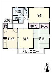 アスリート・ネオD棟[2階]の間取り