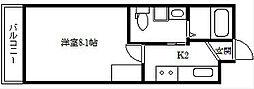 ドーリアNIJO駅東[2-D号室]の間取り