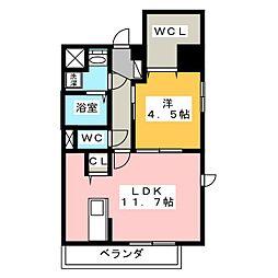 シンフォニー中町[7階]の間取り