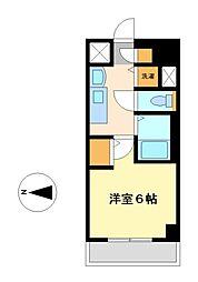 プレサンス鶴舞グリーンパーク[8階]の間取り