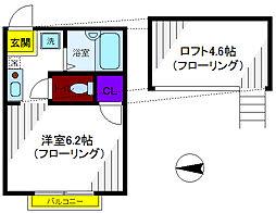 コーワ曙町2[1階]の間取り