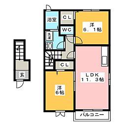 NEST[2階]の間取り