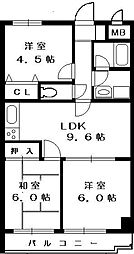 スカイパレス東戸塚[410号室]の間取り