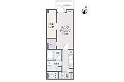 パラディーソ赤坂[4階]の間取り