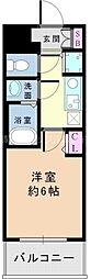 Osaka Metro御堂筋線 新大阪駅 徒歩5分の賃貸マンション 1階1Kの間取り