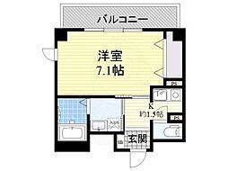 大阪モノレール彩都線 豊川駅 徒歩3分の賃貸マンション 1階1Kの間取り