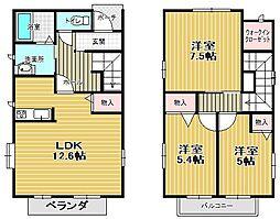 [一戸建] 兵庫県西宮市越水町 の賃貸【/】の間取り