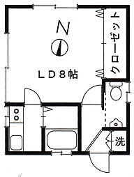 岡田ハウスA[A号室]の間取り