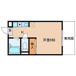 奈良県橿原市城殿町の賃貸アパートの間取り
