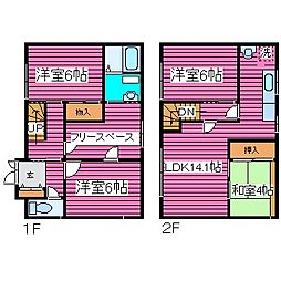[一戸建] 北海道札幌市東区北四十六条東9丁目 の賃貸【/】の間取り