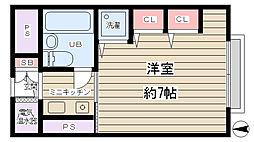 マンション新大阪[3階]の間取り