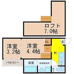 仮)東海通四丁目新築デザイナーズ[2階]の間取り
