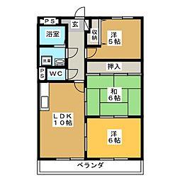 山崎マンション[1階]の間取り