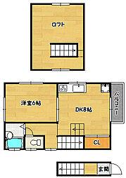 兵庫県神戸市兵庫区塚本通5丁目の賃貸アパートの間取り