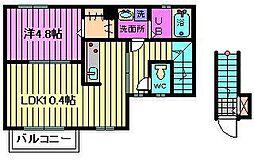 アドシール CentervillageIV[1階]の間取り