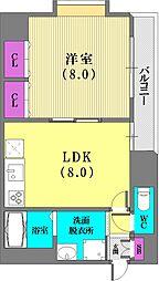 パシフィック神戸桜筋北館[9階]の間取り