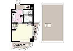 オリエントシティ南堀江II 10階1Kの間取り