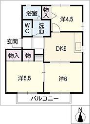ラフィーネ和B棟[1階]の間取り