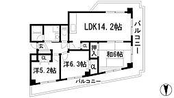 サンライズ(上池田)[2階]の間取り