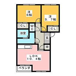 セントレア[2階]の間取り