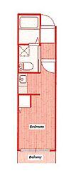 リブフラット[3階]の間取り