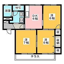 メゾン・ヴィオラI・II[1階]の間取り