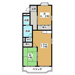 エスポワール梅森台[2階]の間取り