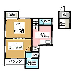 平成須藤貸家I[2階]の間取り