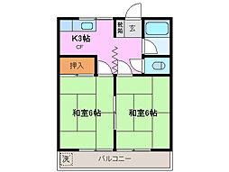 三重県鈴鹿市神戸9丁目の賃貸マンションの間取り