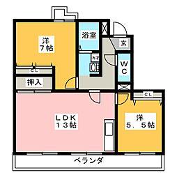 ミレニアム光扇[3階]の間取り