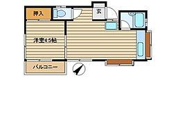 埼玉県ふじみ野市上福岡4丁目の賃貸アパートの間取り