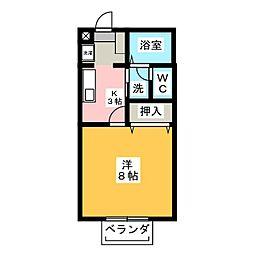 サンフィオーレ勝川[1階]の間取り