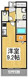 レジダンス上北台[1階]の間取り