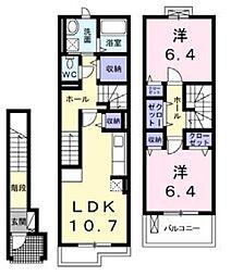 ライカム弐番館[2階]の間取り