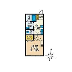レゴリス湘南[1階]の間取り