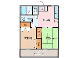 小俣マンション[2階]の間取り