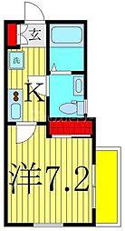 Le clair新松戸 1階1Kの間取り