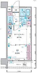 JR総武線 浅草橋駅 徒歩5分の賃貸マンション 8階1DKの間取り